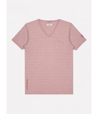Dstrezzed t-shirt v-hals met streep 202516-434