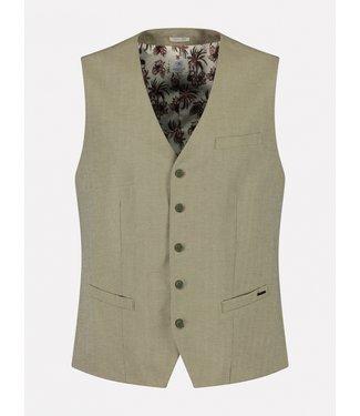 Dstrezzed gilet linnen fijn patroon 121132-511