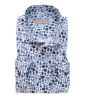 John Miller overhemd slim fit bewerkt 5137943-170
