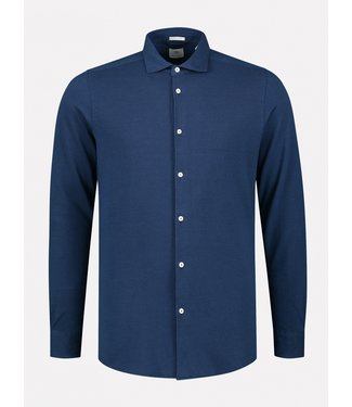 Dstrezzed overhemd piqué blauw 303321-649