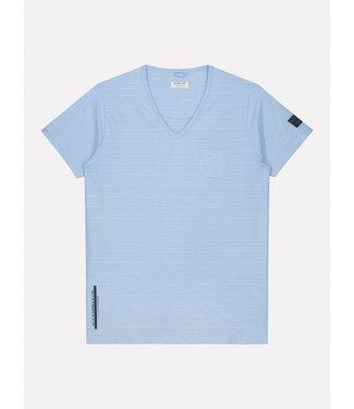 Dstrezzed t-shirt v-hals blauw 202516-625