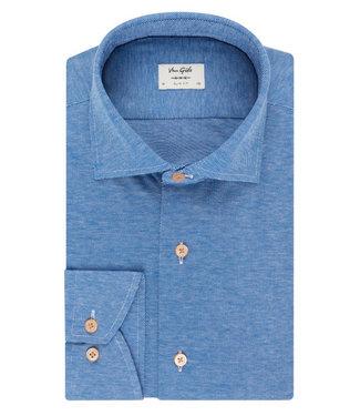 Van Gils jersey overhemd in blauw