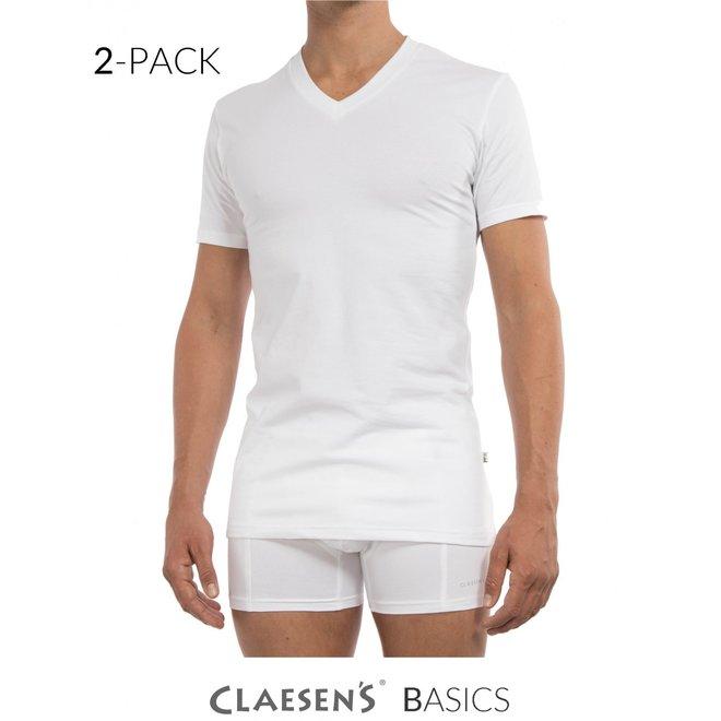 2-pack t-shirt v-hals CL1223-wit