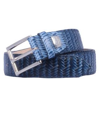 Giorgio riem in blauw leer HEF1023-857/49