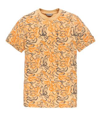 Cast Iron t-shirt bewerkt CTSS203272-7138