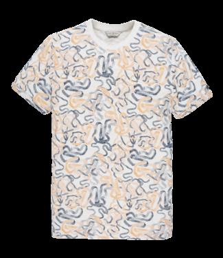 Cast Iron t-shirt bewerkt CTSS203272-7003