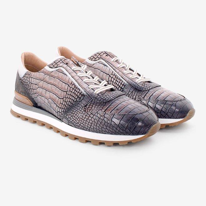 Grijze crocoprint Sneaker HE87520-03