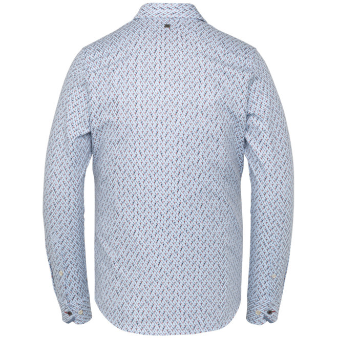 Lichtblauwe print Overhemd VSI211200-5300