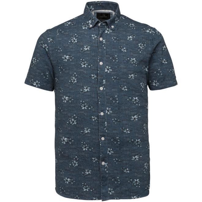 Blauw bewerkt overhemd VSIS213251-5030