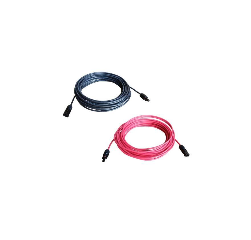 Solarkabel 6mm²  Rood Kant en Klaar met MC4 connectoren