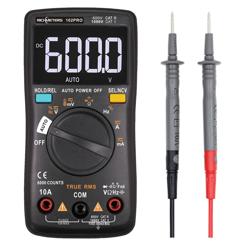 SB-AB Professionele Autorange Multimeter tot 1000V DC