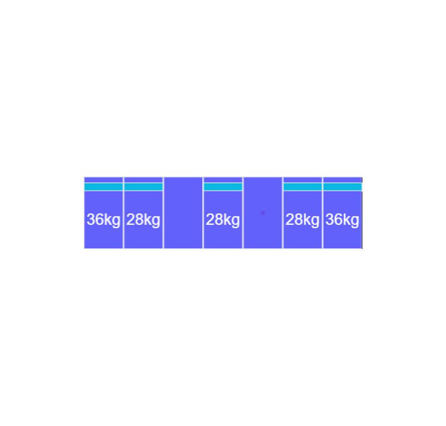 Montageset Zuid - 7 panelen 1081-1184MM