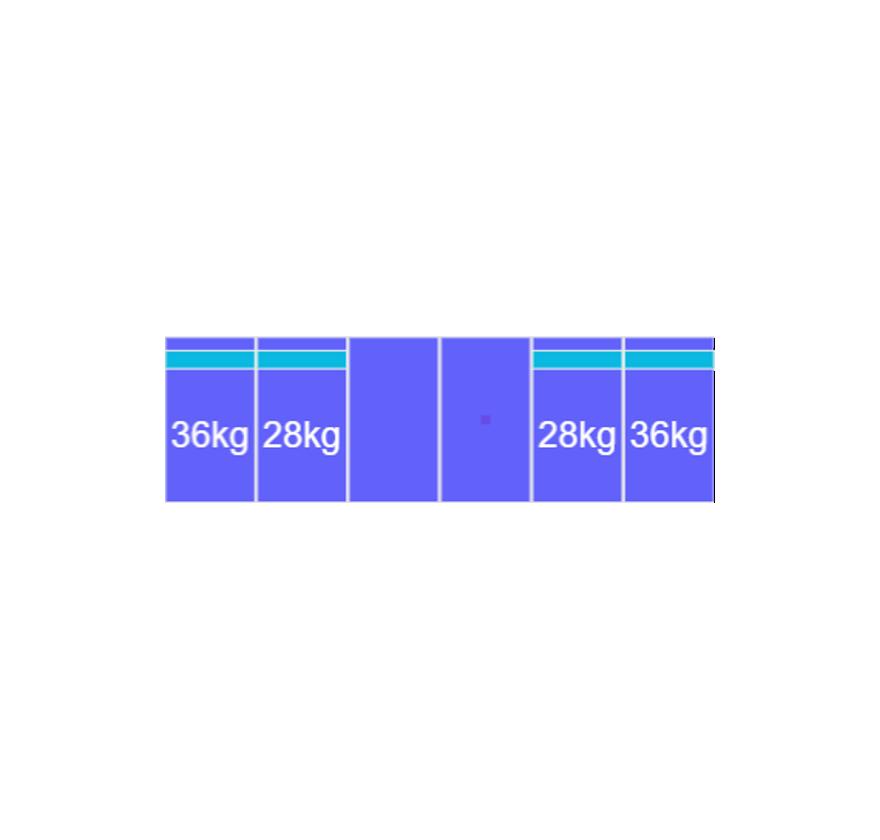 Montageset Zuid - 6 panelen 1081-1184MM