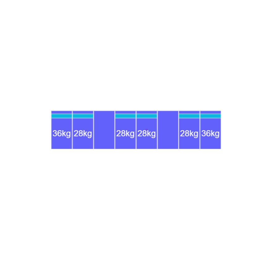 Montageset Zuid - 8 panelen 972-1080MM