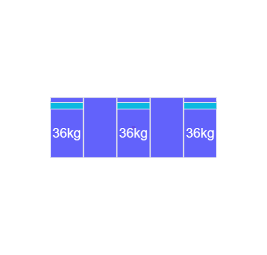 Montageset Zuid - 5 panelen 972-1080MM