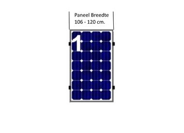 Paneel Breedte 106 - 120 cm.