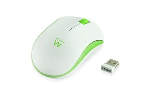 Ewent Draadloze muis wit-groen 1000dpi