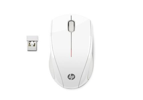 HP X3000 Draadloze Optische Muis - Wit