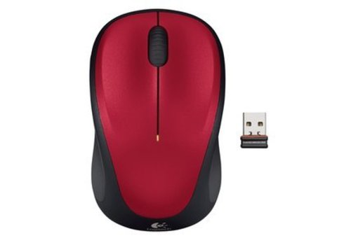Logitech Wireless Mouse M235 - Rood