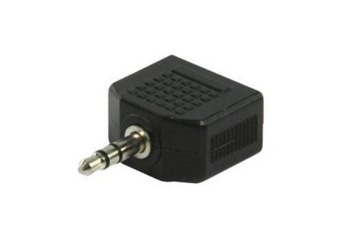 Valueline 3,5mm Jack plug naar 2x 3,5mm Jack plug