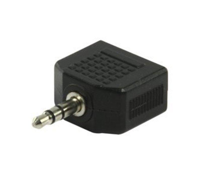 3,5mm Jack plug naar 2x 3,5mm Jack plug