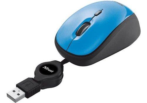 Trust Yvi oprolbare muis - blauw