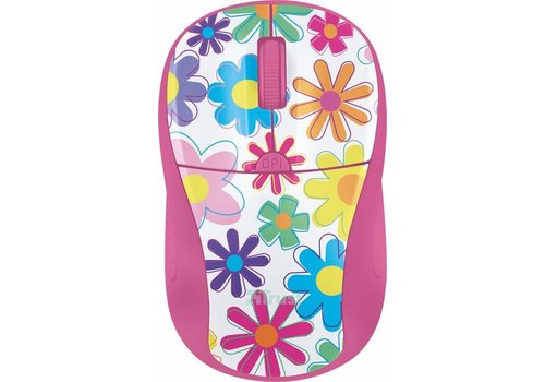 Trust Primo Wireless Mouse - Roze/Flower