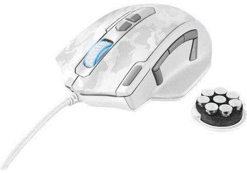 Trust GXT 155W Gaming Mouse White Camouflage