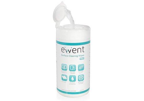 Ewent Scherm en oppervlak schoonmaakdoekjes (100 stuks)