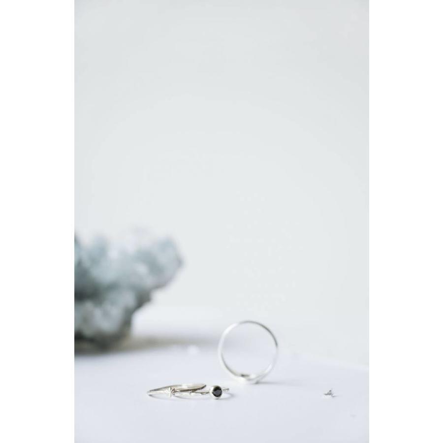 Reverie Ring Zilver Zwart-3