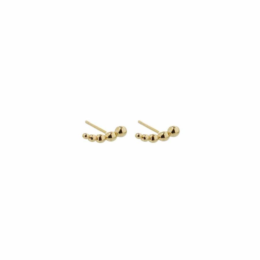 Droplet Studs Gold-1