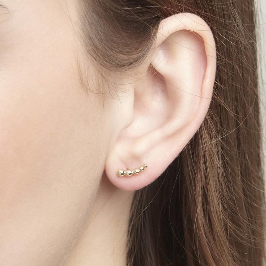 Droplet Studs Gold-2