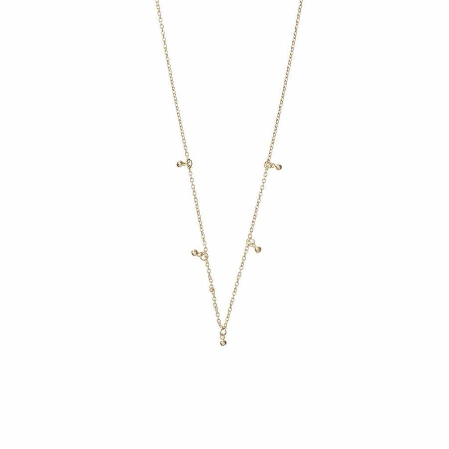 Droplet Necklace Gold-1
