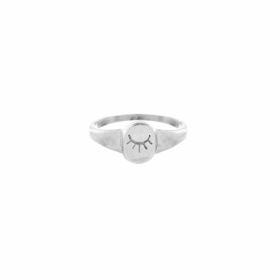Unwind Signet Ring Zilver-1