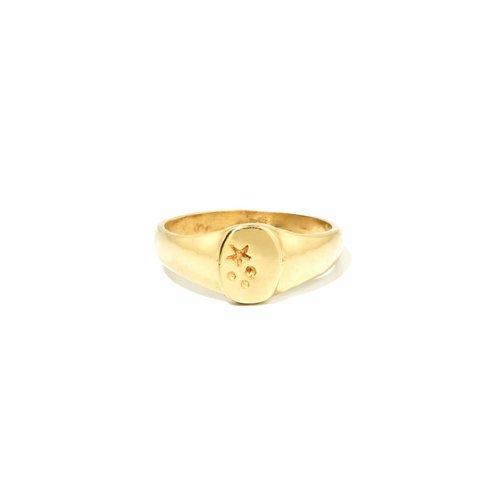 Stellar Signet Ring Goud