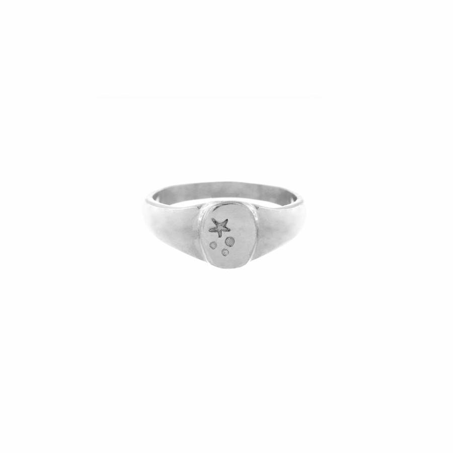 Stellar Signet Ring Zilver-1