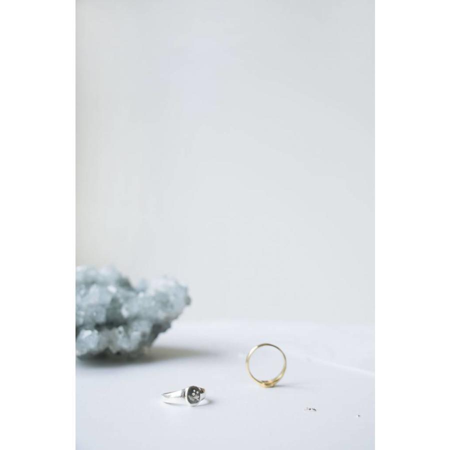 Stellar Signet Ring Zilver-3