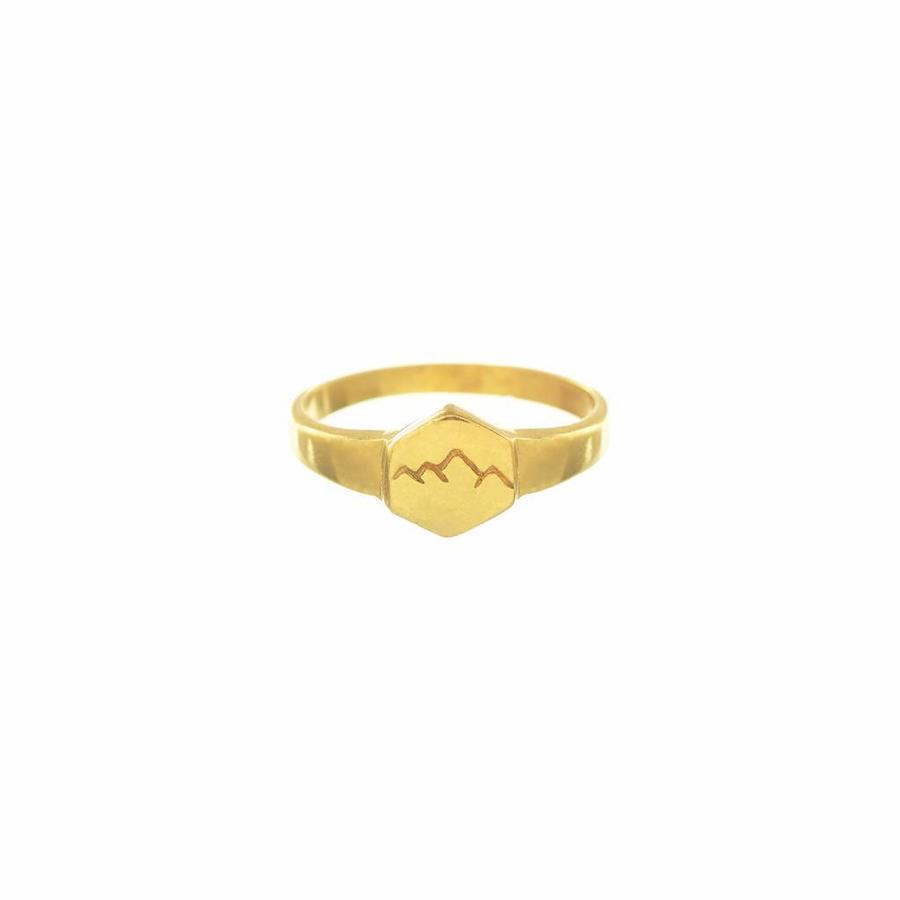Scenic Signet Ring Gold-1