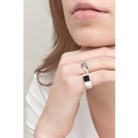 thumb-Onyx Signet Ring Silver-2