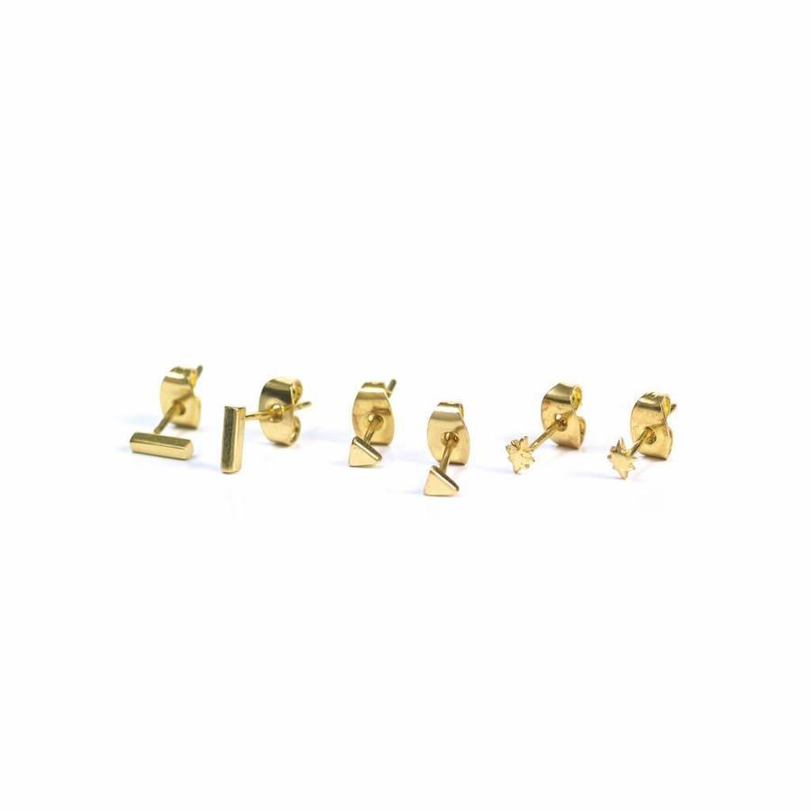 Tribe Studs Gold Plated-1