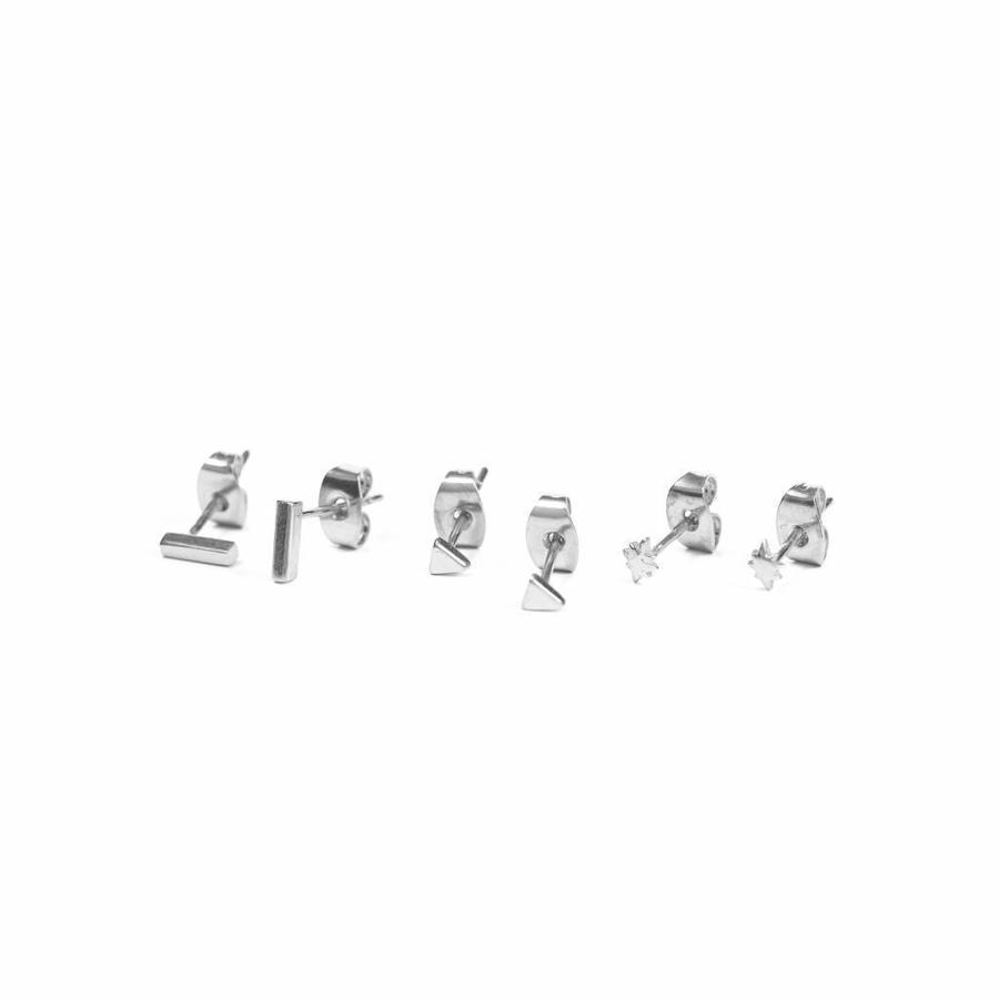 Tribe Studs Zilver-1