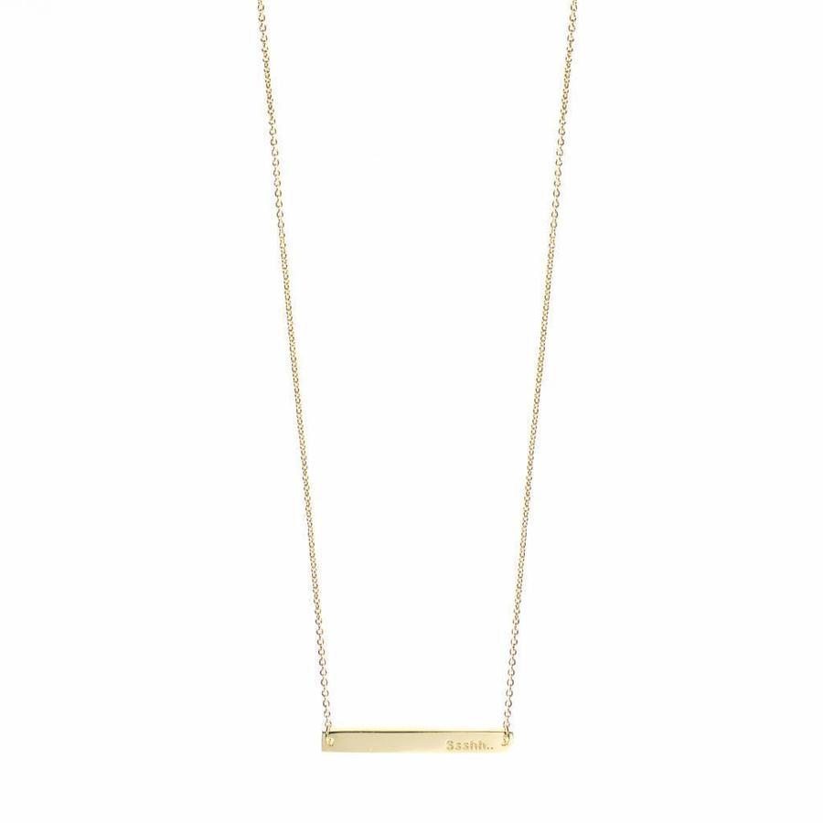 Ssshh Necklace Gold-1