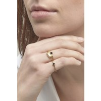 thumb-Reverie Ring Gold Black-5