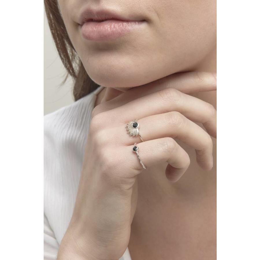 Reverie Ring Zilver Zwart-5