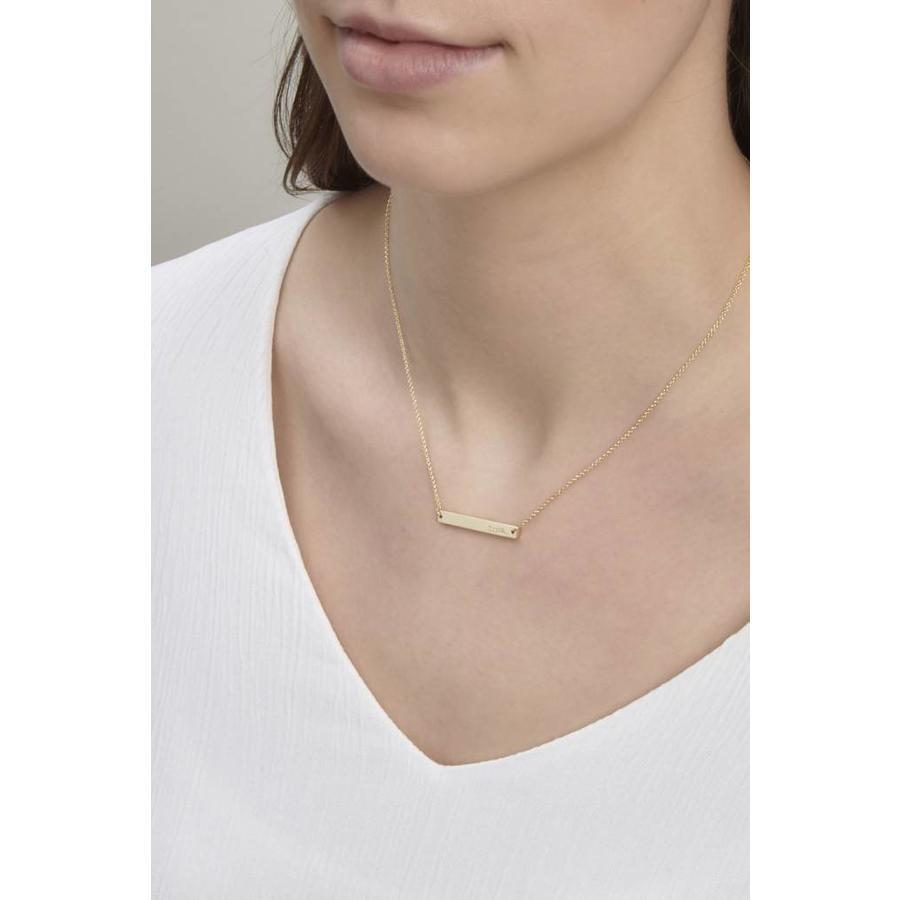 Ssshh Necklace Gold-2
