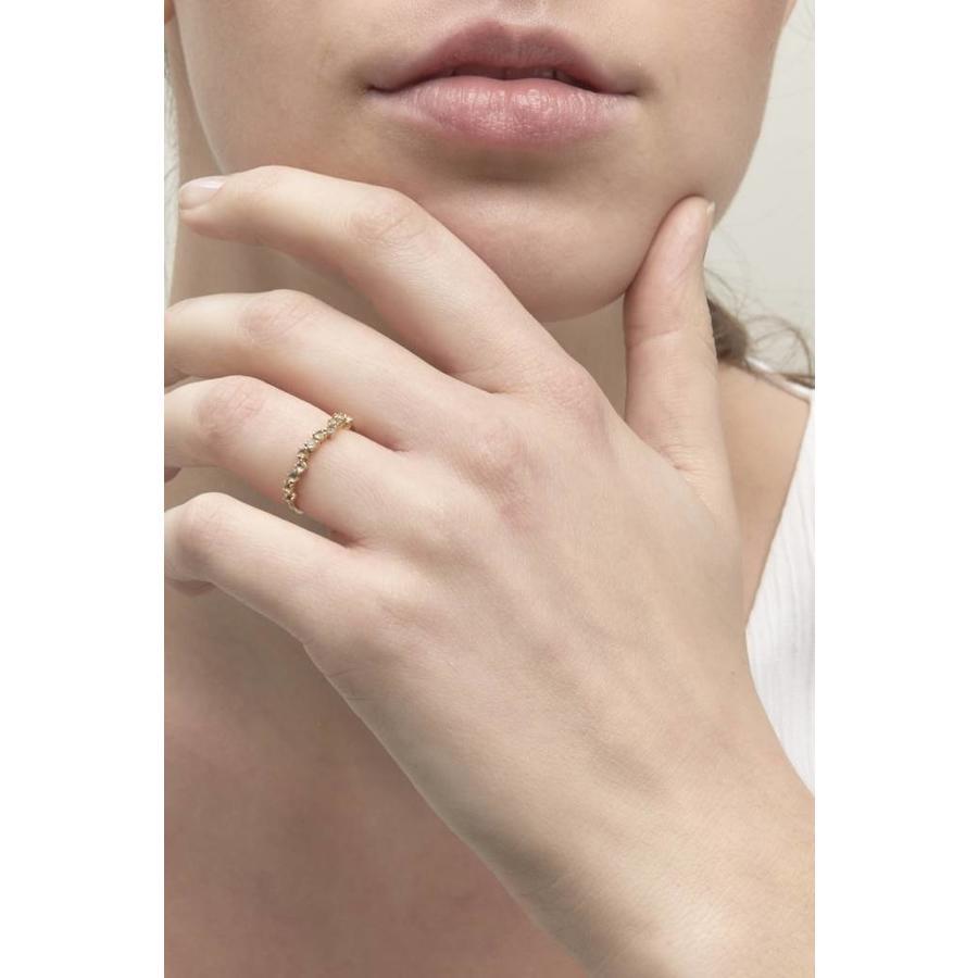 Crystallized Ring 18krt Gold-1