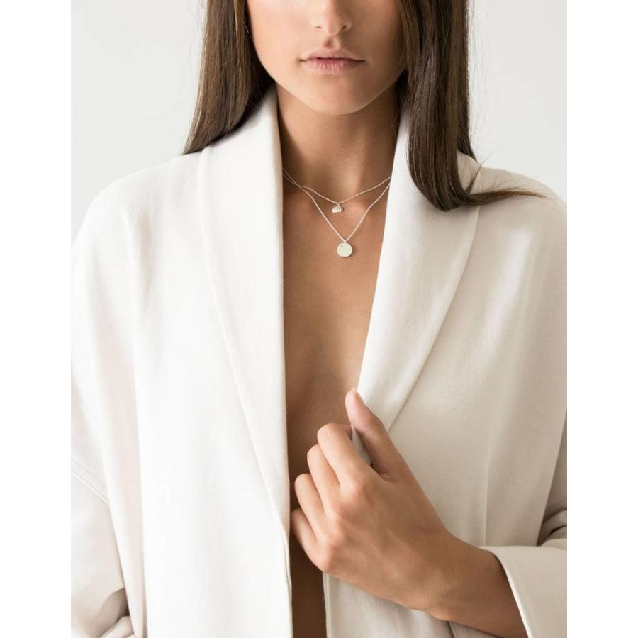 Shell Necklace Silver-2