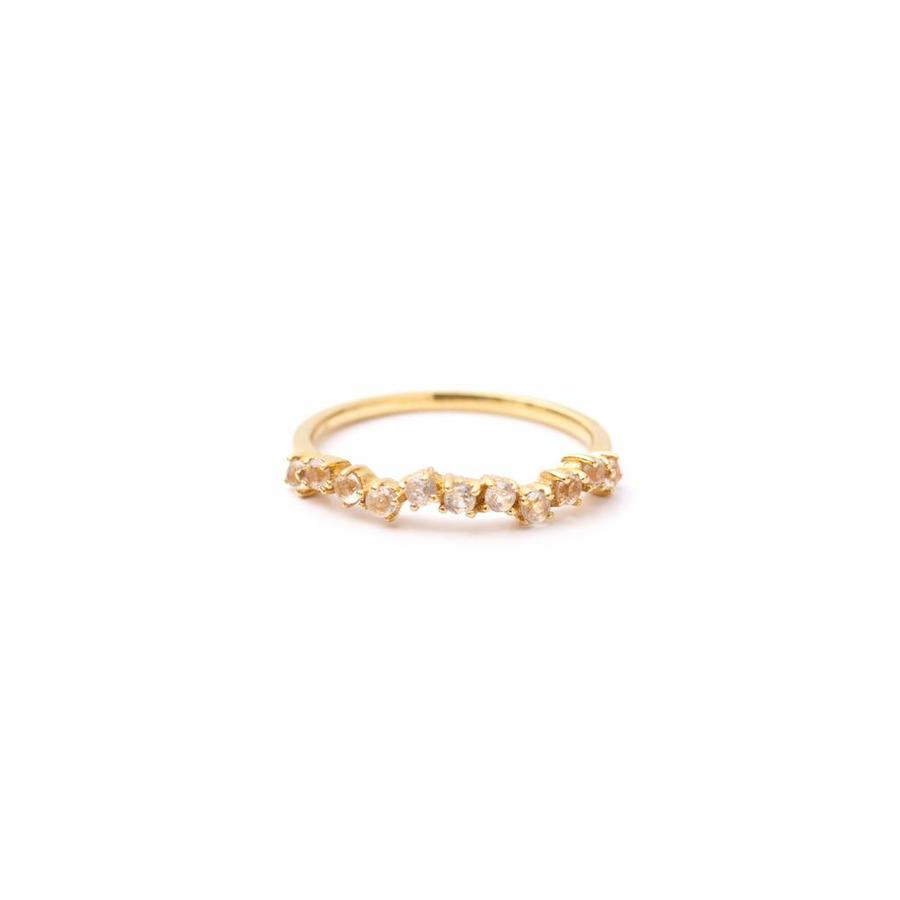 Crystallized Ring 18krt Gold-2