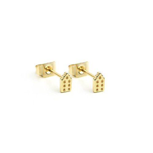 The Jordaan Studs Gold Plated