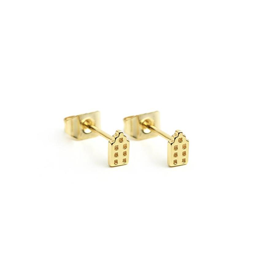 The Jordaan Studs Gold Plated-1